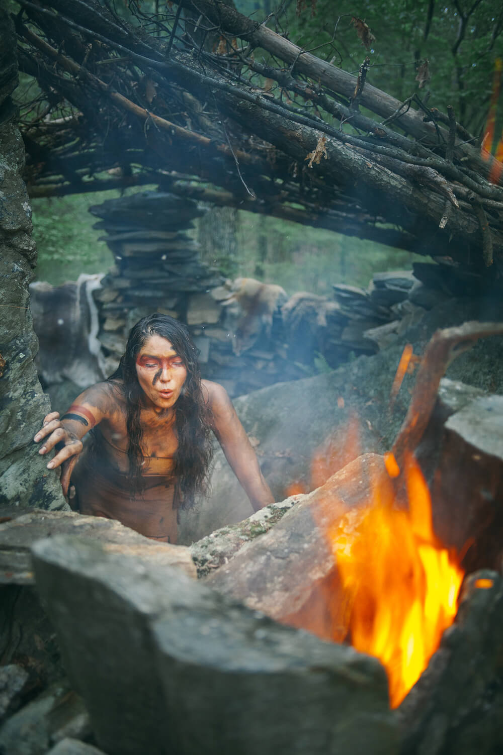 ACCALIA building a fire.